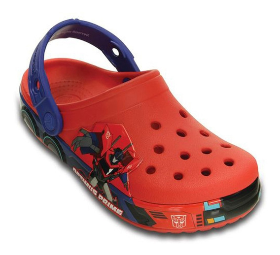 Sandalia Crocband Crocs Kids Bumblebe Red Black Frete Gratis