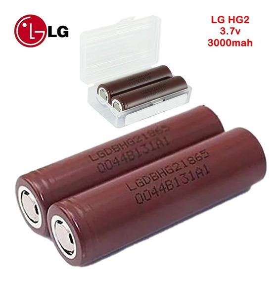 Bateria 3.7v Lg 3000mah Hg2 Imr 18650 Li-ion Chocolate Vape