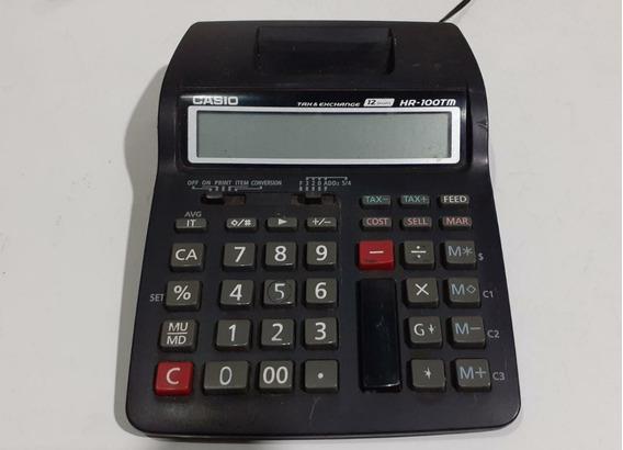 Calculadora C/ Impressão Casio Hr-100tm 12 Digitos