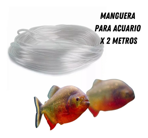 Manguera Para Acuario X 2 Metros Transparente