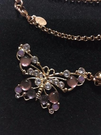 Collar Baño De Oro Mariposa Yanbal