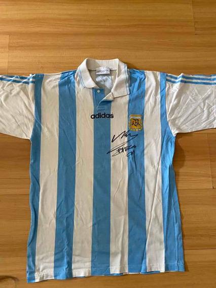 Camiseta Selección Argentina 1994 Firmada Por Maradona