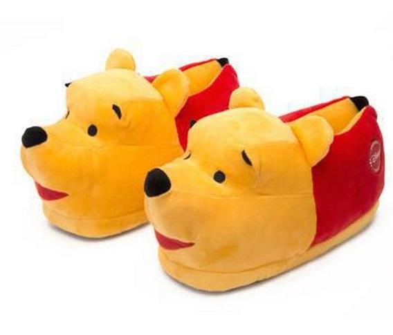 Pantufa Pooh 3d Sola De Borracha