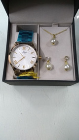 Kit Relógio Champion Feminino Cn27796w