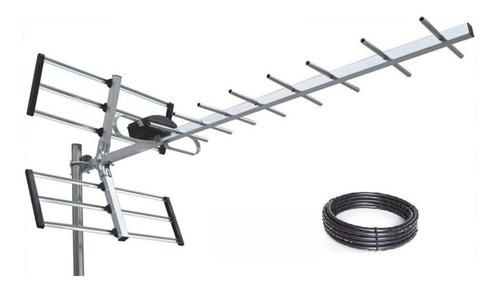 Kit Antena Tda Tv Digital Hd Alta Ganancia + Cable