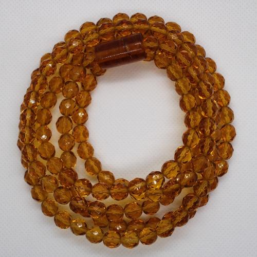 Imagem 1 de 8 de Guia De Iansã Amarela Cristal Umbanda