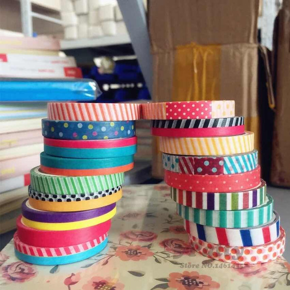 Kit 3 Washi Tape Fita Decorativa