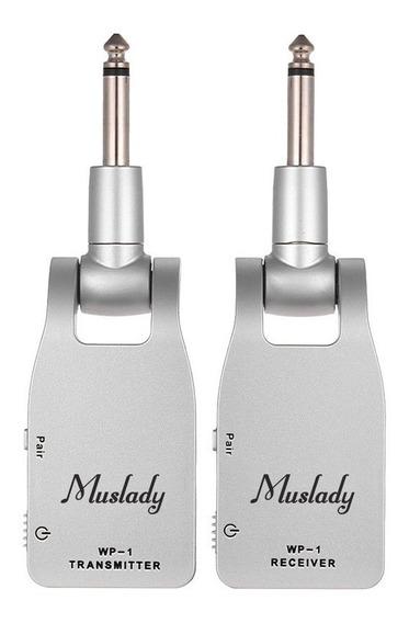 Muslady Sistema De Guitarra 2.4g Sem Fio Transmissor &