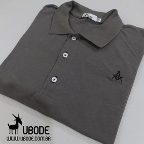 bf9a0f480db7b Camisas Polos Esquadra Masculinas · Camisa Pólo Maçonaria Grafiti Esquadro  E Compasso - Ubode