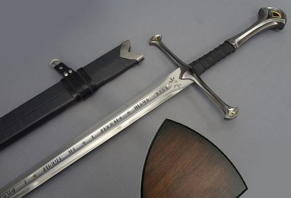 Espada Anduril Aragorn Funda Placa Senor De Los Anillos Lotr