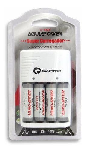 Imagem 1 de 2 de 6 Pilhas Recarregaveis Aaa - Aguia Power 1100 Mah