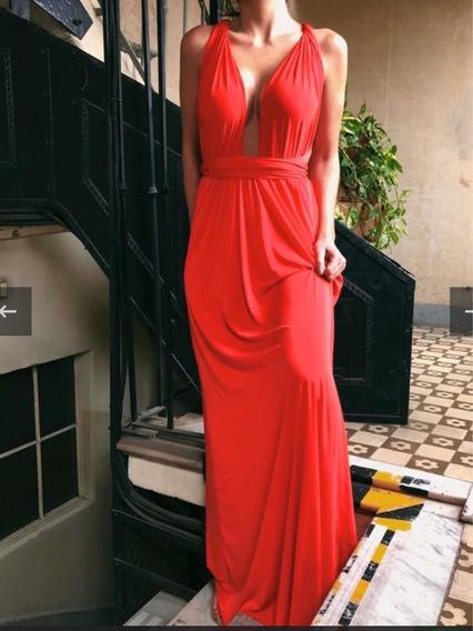 Vestido Largo De Fiesta Rojo Shibinda