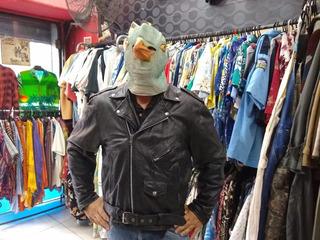 Chaqueta De Cuero Rockera Ramones Original 90s Usa N 556