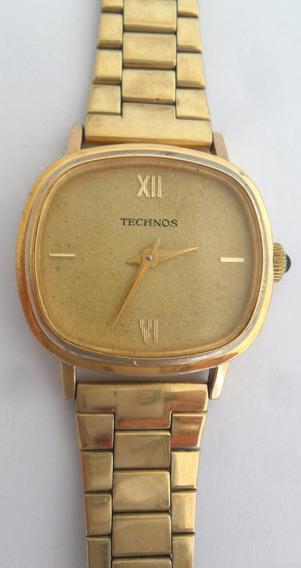 Relógio Technos A Corda Feminino 17 Rubis Dourado Antigo