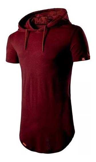 Kit 05 Camisa Longline Oversized Com Capuz Swag Básica C32