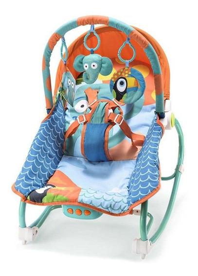 Cadeira Bebê Balanço Musical 0-20kg Elefante Multikids Baby