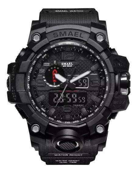 Relógio Smael 1545 Masculino Esportivo Militar Digital Dual Time Natação Corrida Cronômetro Alarme Multifuncional