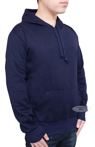 Promo A Sudadera Hoodie Azul Blue Marino Lisa Suéter Abrigo