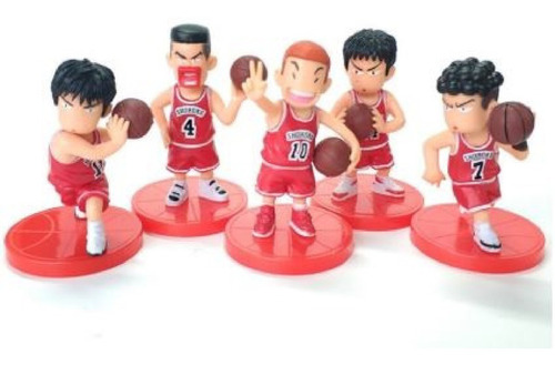 Set De Figuras Slam Dunk - Shohoku Rojo O Rivales, Nuevos.