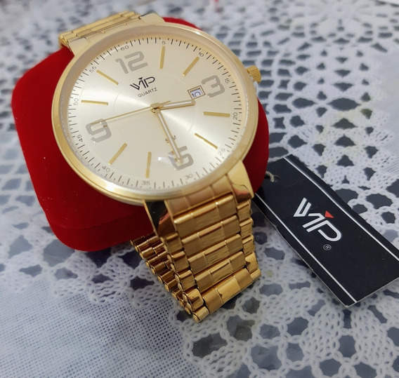 Relógio Vip Masculino Dourado