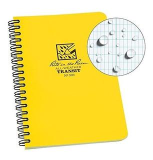 Cuaderno Rite In The Rain, Espiral Lateral, Color Amarillo.