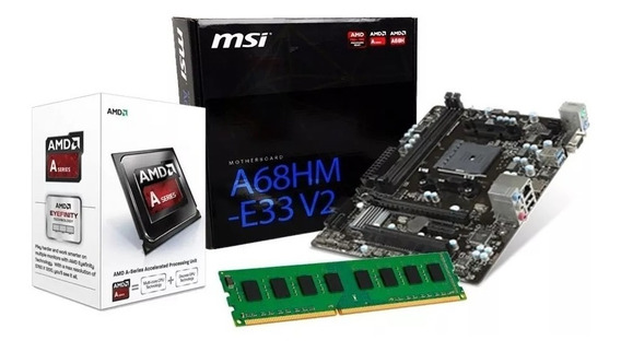 Kit Upgrade Amd A4 6300 3.7 Ghz, Placa Msi A68hm-e33, 8gb