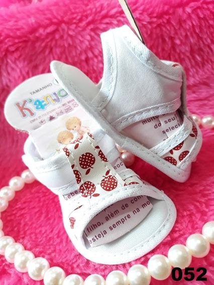 Sapatinho Sandalia Tenis Bebe Infantil Menina Cor Branco