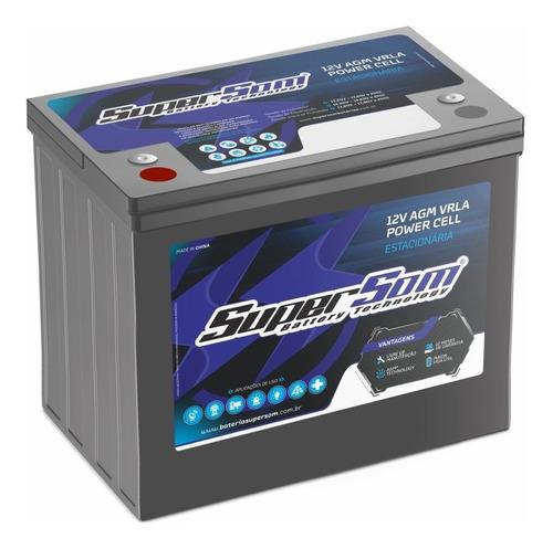 Bateria Gel 220ah Super Som Estacionária Agm Vrla Break