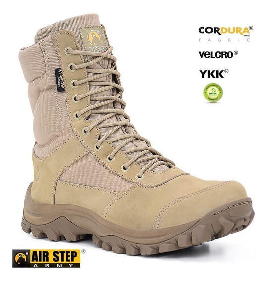 Bota Tática Air Step 8628 Easy Boot Light C/ Ziper - Tan