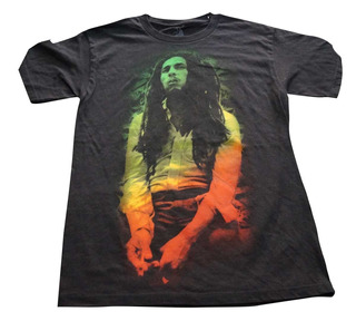 Camiseta Rock Bob Marley Importada Rock Activity Talla S