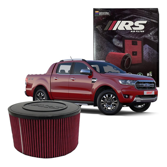 Filtro Ar Esportivo Inbox Ford Ranger 3.2 Limited 2017 Rs