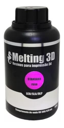 Resina Melting 3d - Rosa Translúcido - Standard
