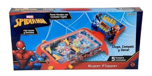 Super Flipper Spiderman Luminoso Con Sonidos Ditoys Rre 2408