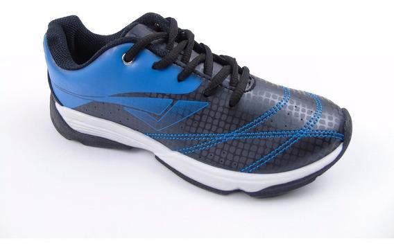 Tenis Infantil Barato Masculino Azul/preto Confortavel Bouts