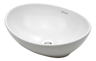 Piazza Bacha Porcelana 410x330x145 Modelo A082 Oval De Apoyo