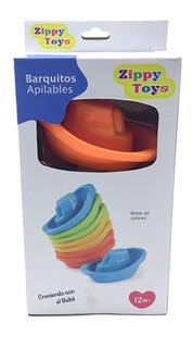 Juguete Para Baño Barquito Apilable Zippy Toys Bebés Agua