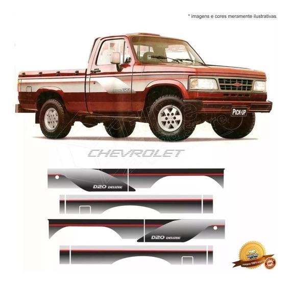 Kit Faixas/adesivos D20 96 Simples Prata - Modelo Original