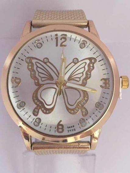 Relógio Feminino Butterflay Dourado