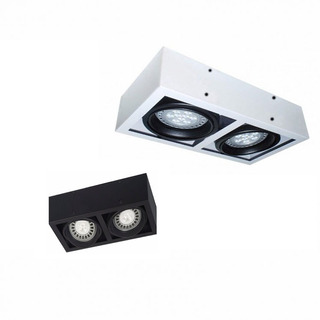 Aplique Plafon Techo Cardanico Ar111 Box 2 Luces Apto Led