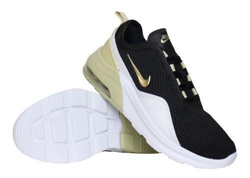 al menos Olla de crack Construir sobre  Tenis Nike Air Max Motion 2 Dama Negro Dorado 2019 | Mercado Libre
