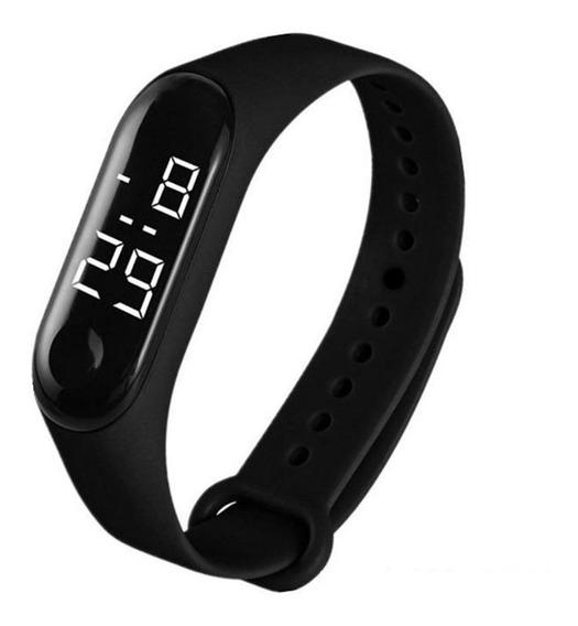 Relógio Digital Esporte Bracelete Led Homem Mulher Hora Data