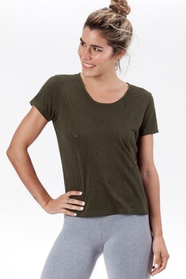 Remera Lf Myn M/c Verde Militar Admitione Mujer