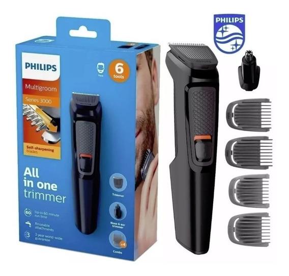 Aparador De Pelos E Barbas Philips Multigroom 6 Em 1 Mg3712