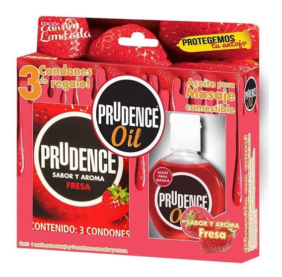 Lubricante Corporal Prudence Oil + 3 Condones De Regalo