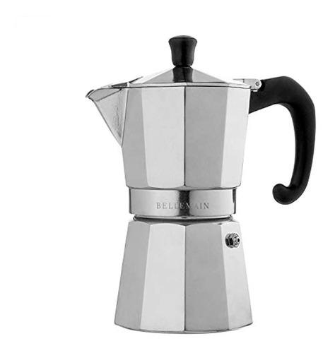 Bellemain - Cafetera Espresso Para 6 Tazas, Moka Pot