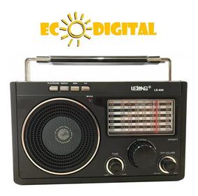 Radio Retro Usb Cartão Sd Am Fm Le-609 Energia Pilha Tomada
