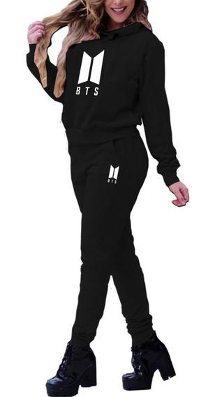 Blusa Moletom + Calça Bts Kpop Bt21 Army Musica Top !!! B 13