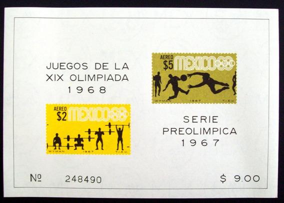 Deporte, México - Bloque Sc C331a Preolímpica 67 Mint L4364