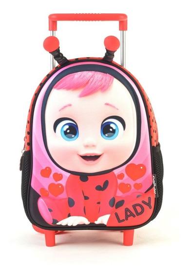 Mochila Cry Babies Lady 3d Con Carro 11