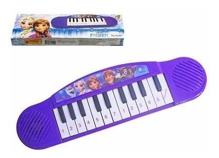Teclado Piano Musical Infantil Brinquedo Frozen Disney